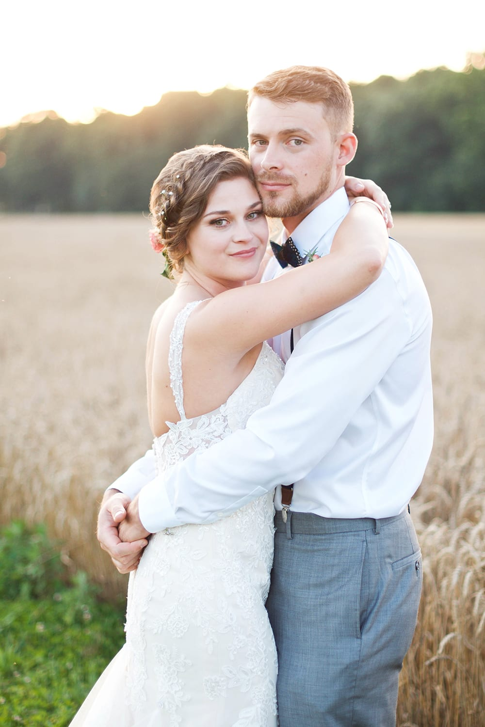 Bride and Groom at their Asheville Wedding